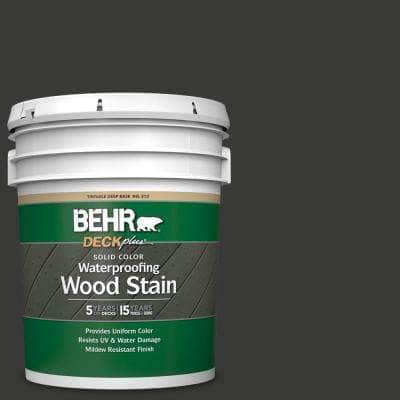 5 gal. #HDC-MD-04 Totally Black Solid Color Waterproofing Exterior Wood Stain
