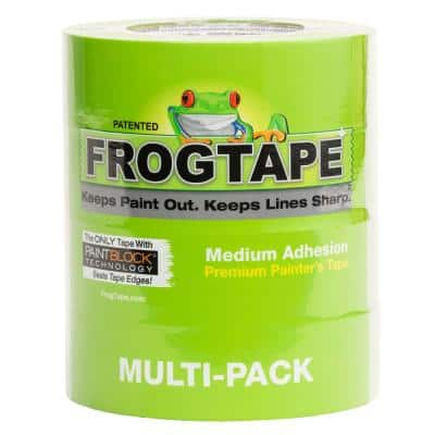 Multi-Surface 1.41 in. x 60 yds. Green Painter's Tape with PaintBlock (4-Pack)