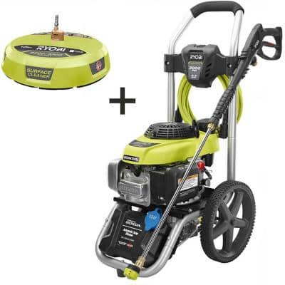 3000 PSI 2.3 GPM Honda Gas Pressure Washer and 15 in. Surface Cleaner