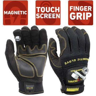 Pro FingerGrip X-Large Magnetic Glove with Touch-Screen Technology