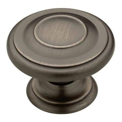 Harmon 1-3/8 in. (35 mm) Heirloom Silver Round Cabinet Knob (24-Pack)