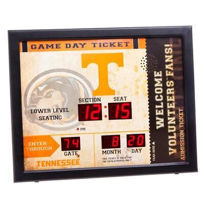 University of Tennessee NCAA Bluetooth Ticket Stub Wall Clock
