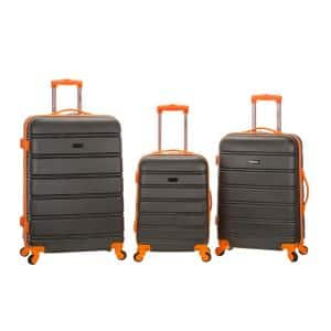 Melbourne 3-Piece Hardside Spinner Luggage Set, Charcoal