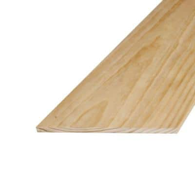 1 in. x 12 in. x 8 ft. S4S Radiata Pine Board