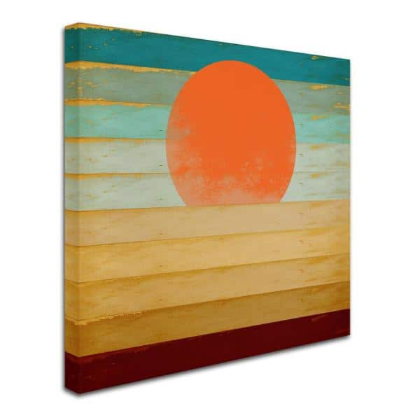Trademark Fine Art 18 In X 18 In Beautiful Day By Tammy Kushnir Floater Frame Abstract Wall Art Ali11216 C1818g The Home Depot