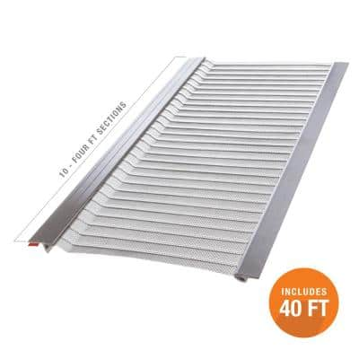 4 ft. L x 5 in. W Stainless Steel Micro-Mesh Gutter Guard (10-Pack)