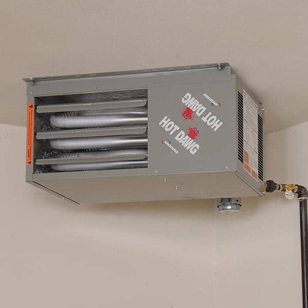 Modine Hot Dawg 45 000 Btu Natural Gas Garage Ceiling Heater Hd45a The Home Depot