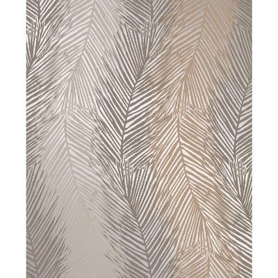 Wheaton Bronze Leaf Wave Wallpaper Bronze Wallpaper Sample