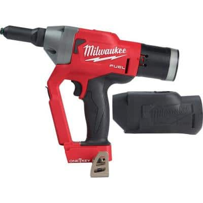 M18 FUEL ONE-KEY 18-Volt Lithium-Ion Cordless Rivet Tool with Protective Boot