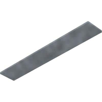 0.25 in. x 3 in. x 18 in. Steel Hammered Gray Logan Bracket