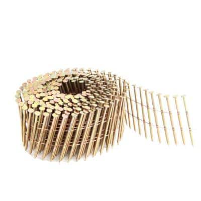 15° 0.092 in. x 2-1/4 in. Wire Collated Galvanized Ring Shank Coil Siding Nails (3600-Count)