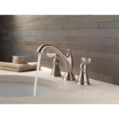 Linden 8 in. Widespread 2-Handle Bathroom Faucet with Metal Drain Assembly in Stainless