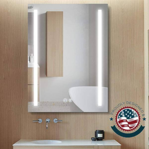 Boyel Living 24 In W X 32 H, Home Depot Bathroom Mirror With Lights