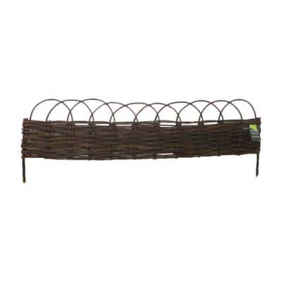72 in. L 48 in. W 12 in. H Standard Woven Willow Raised Garden Bed (4-Pieces)
