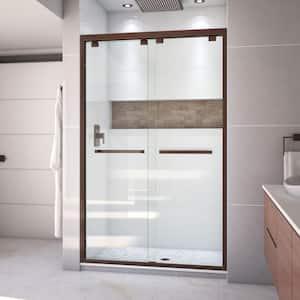 Encore 44 to 48 in. x 76 in. Semi-Frameless Bypass Shower Door in Oil Rubbed Bronze