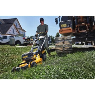 20 in. 20V MAX Lithium Ion Cordless Battery Walk Behind Push Lawn Mower with (4) 5.0Ah Batteries and Charger Included