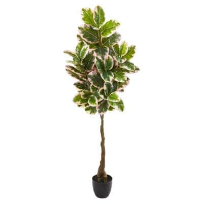 65 in. Rubber Leaf Artificial Tree (Real Touch)