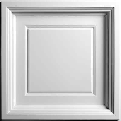 Madison White 2 ft. x 2 ft. Lay-in Coffered Ceiling Panel (Case of 6)