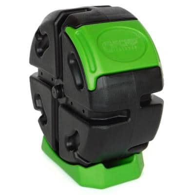 19 Gal. Half Size Rolling Composter in Green