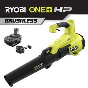 110 MPH 350 CFM ONE+ HP 18V Brushless Lithium-Ion Cordless Jet-Fan Leaf Blower - 4.0 Ah Battery and Charger Included