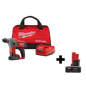M12 FUEL 12-Volt Lithium-Ion Brushless Cordless 5/8 in. SDS-Plus Rotary Hammer Kit with 6.0Ah Battery