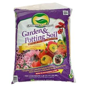 Grower's Choice Garden Potting Soil Annuals Perrenials Vegetables 1.25 Cu. Ft. Flowering Mix