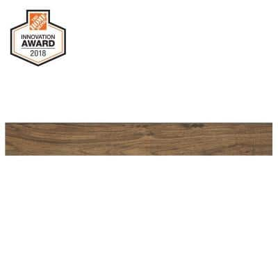 Toffee Wood 3 in. x 24 in. Glazed Porcelain Bullnose Trim Tile (0.48 sq. ft. / piece)