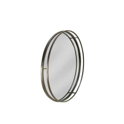 31.5 in. x 31.5 in. Contemporary Round Framed Black Wall Accent Mirror