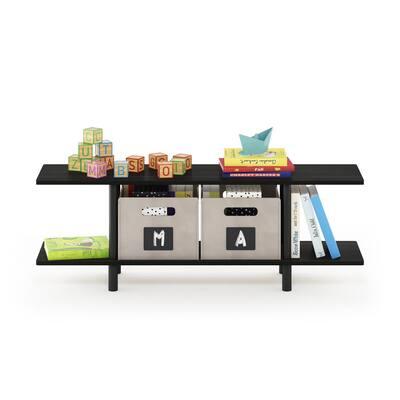 Turn-N-Tube Espresso 2-Tier Multi-Purpose Wide Shelf