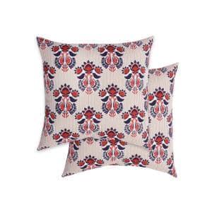 Keenland Khaki Square Outdoor Throw Pillow (2-Pack)