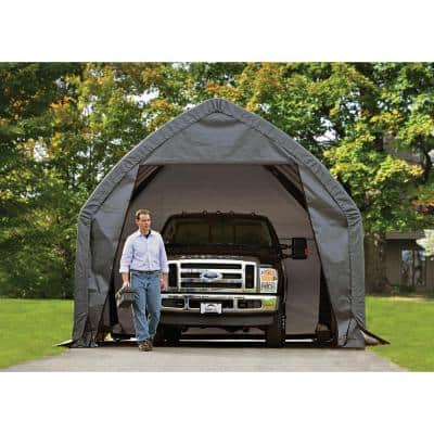 13 ft. W x 20 ft. D x 12 ft. H Alpine-Style Garage-in-a-Box with Advanced-Engineered Fabric and Easy-Slide Rail System