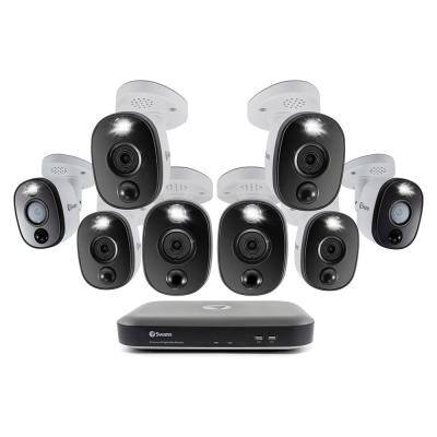 DVR-5580 8-Channel 4K UHD 2TB DVR Security camera System with Eight 4K Wired Bullet Cameras