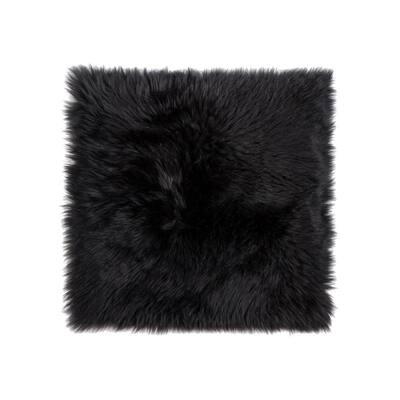 New Zealand Black Sheepskin Chair Seat Cover