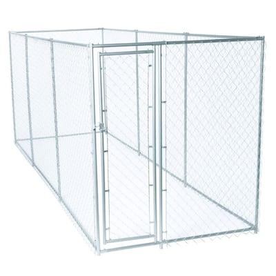 6 ft. H x 5 ft. W x 15 ft. L or 6 ft. H x 10 ft. W x 10 ft. L - 2 in 1 Galvanized Chain Link Dog Kennel PC Frame Box Kit