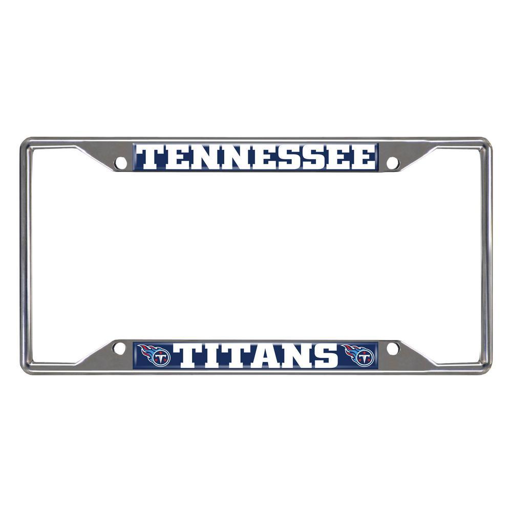 NFL - Tennessee Titans Chromed Stainless Steel License Plate Frame