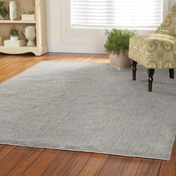Home Decorators Collection Ethereal Shag Grey 7 Ft X 10 Ft Indoor Area Rug 447120 The Home Depot
