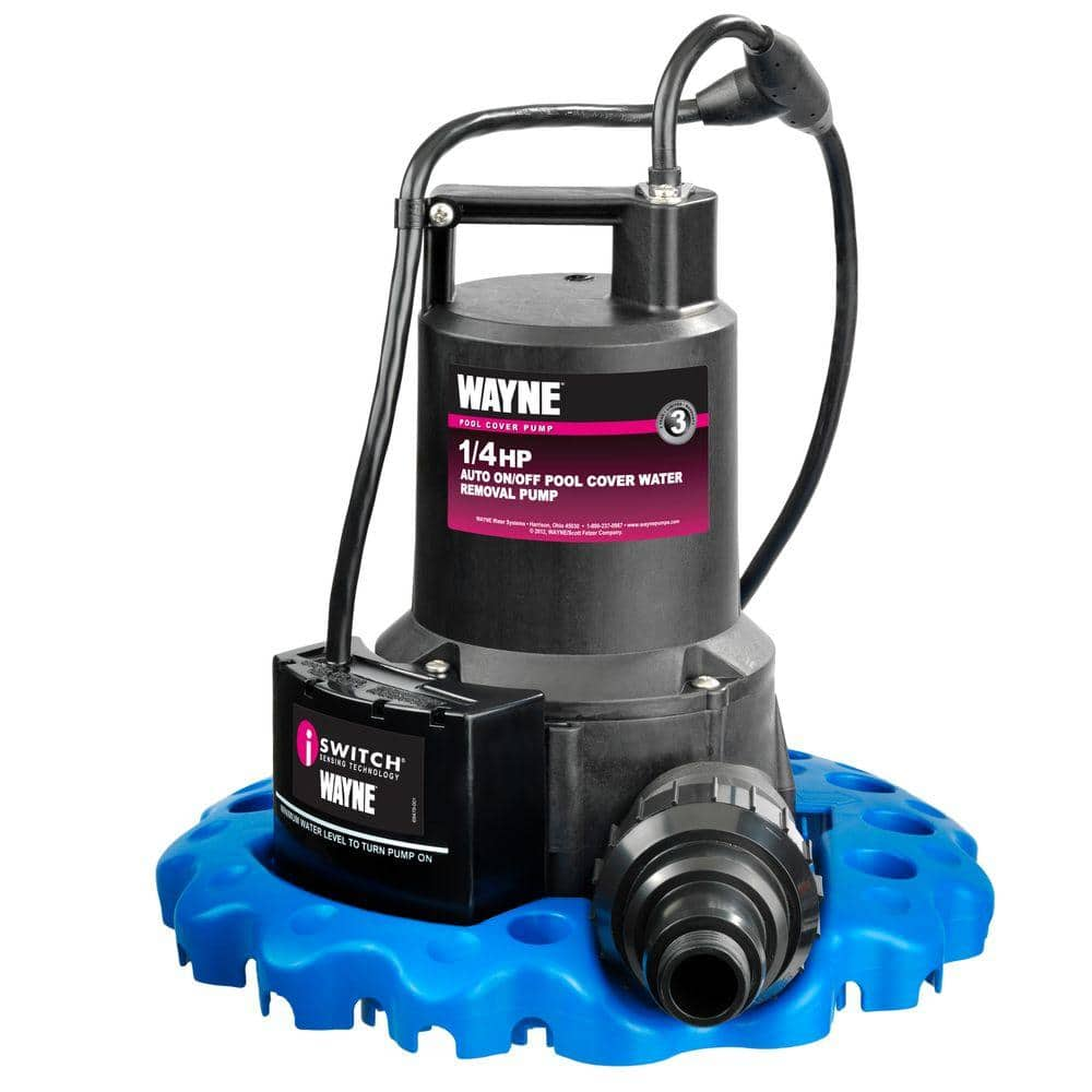 Wayne 1 4 Hp Auto On Off Pool Cover Water Removal Pump Wapc250 The Home Depot