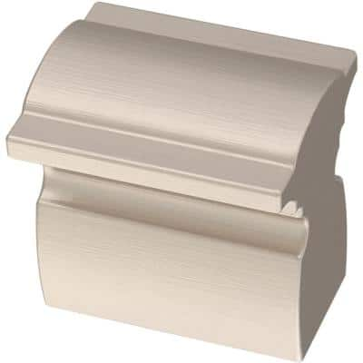 Classic Curve 1 in. (25 mm) Satin Nickel Cabinet Knob (5-Pack)