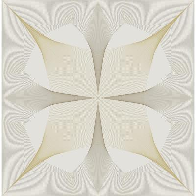 White and Gold Intuition Peel and Stick Wallpaper