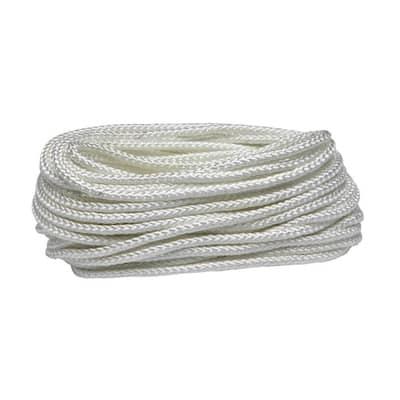 1/4 in. x 100 ft. White Polypropylene Diamond Braid Rope