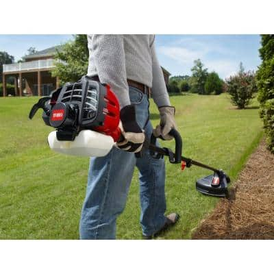 2-Cycle 25.4cc Attachment Capable Straight Shaft Gas String Trimmer with Hedge Trimmer Attachment