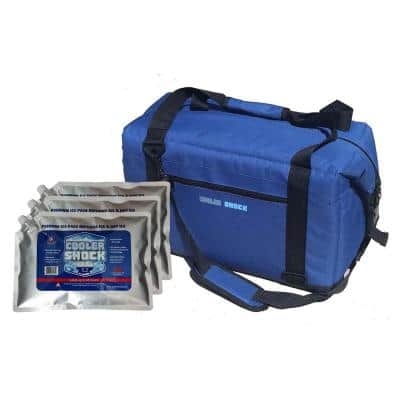 Cooler Kit - 24 Hour Ice-Free Cooler with 3 Large Screw Cap Ice Packs