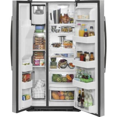 23.2 cu. ft. Side by Side Refrigerator in Stainless Steel, ENERGY STAR
