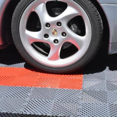 Perforated Click 12-1/8 in. x 12-1/8 in. Gray Plastic Garage Floor Tile (25-Pack)