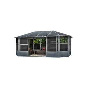 12 ft. x 18 ft. Florence Solarium Metal Roof Slate