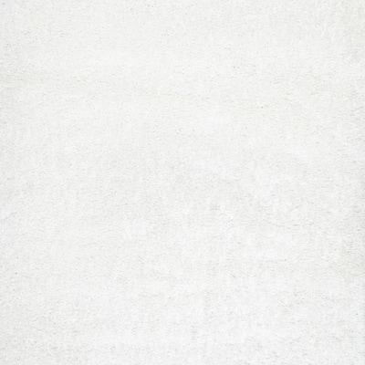 Marleen Plush Shag White 8 ft. Square Rug