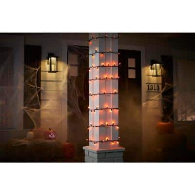 29 ft. 6 in. 100-Count Smooth LED Mini Orange Halloween String-Lights