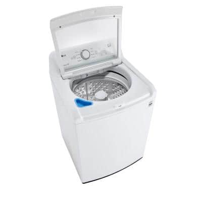 27 in. 4.3 cu. ft. White Top Load Washing Machine with 4-Way Agitator, NeveRust and TurboDrum Technology