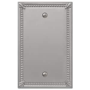 Imperial Bead 1 Gang Blank Metal Wall Plate - Brushed Nickel