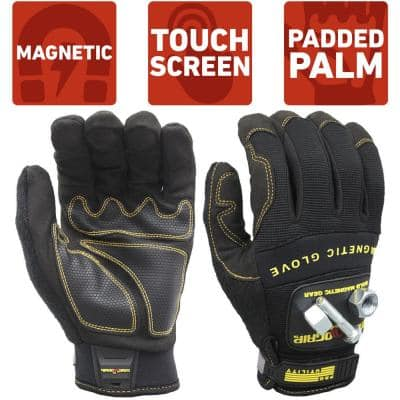 Pro Utility Medium Magnetic Glove with Touch-Screen Technology